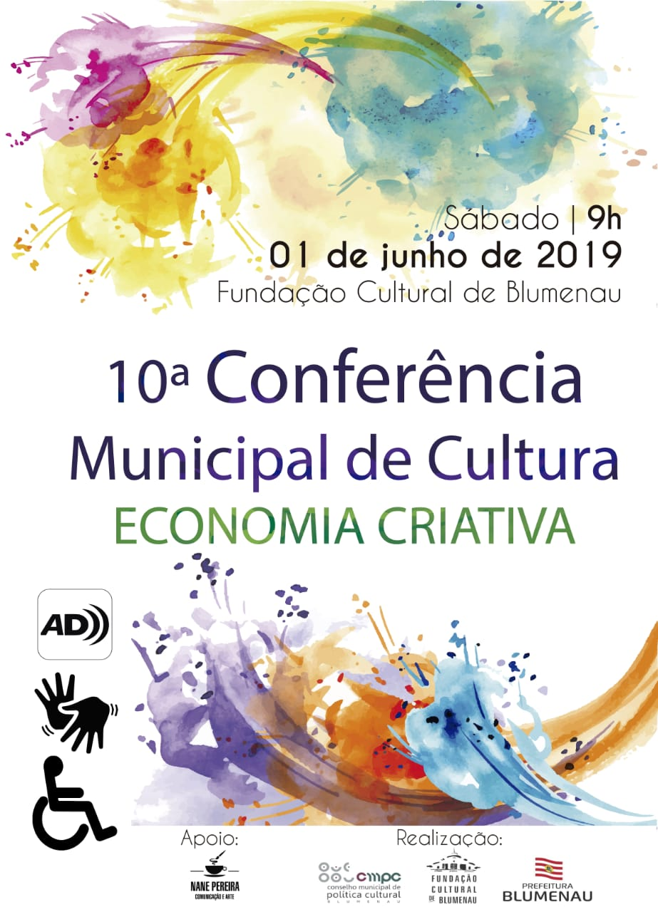 10ª Conferência Municipal de Cultura de Blumenau ocorre neste sábado (1) na Fundação Cultural